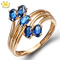 Hutang Natural Blue Sapphire Solid 925 Sterling Silver Ring for Women Fine Jewelry