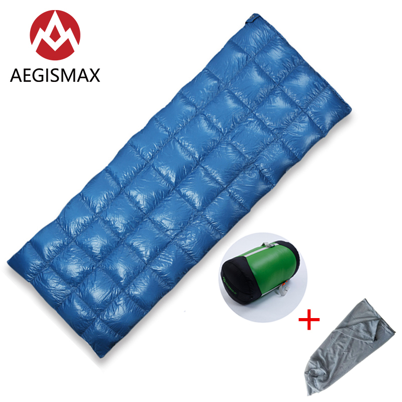 AEGISMAX SP Ultra Light 650FP 90 White Duck down sleeping bag camping Outdoor and Family Open