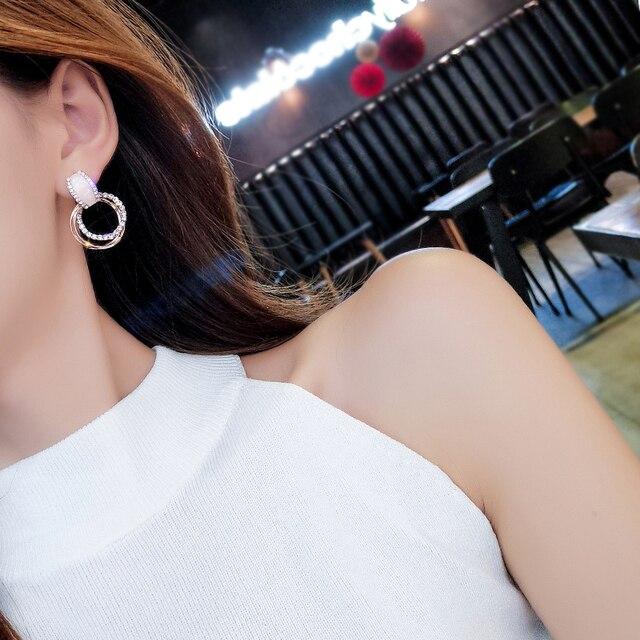 Classic Acrylic Women Stud Earrings Circle Earrings Fashion Jewelry Womens Accessories 3