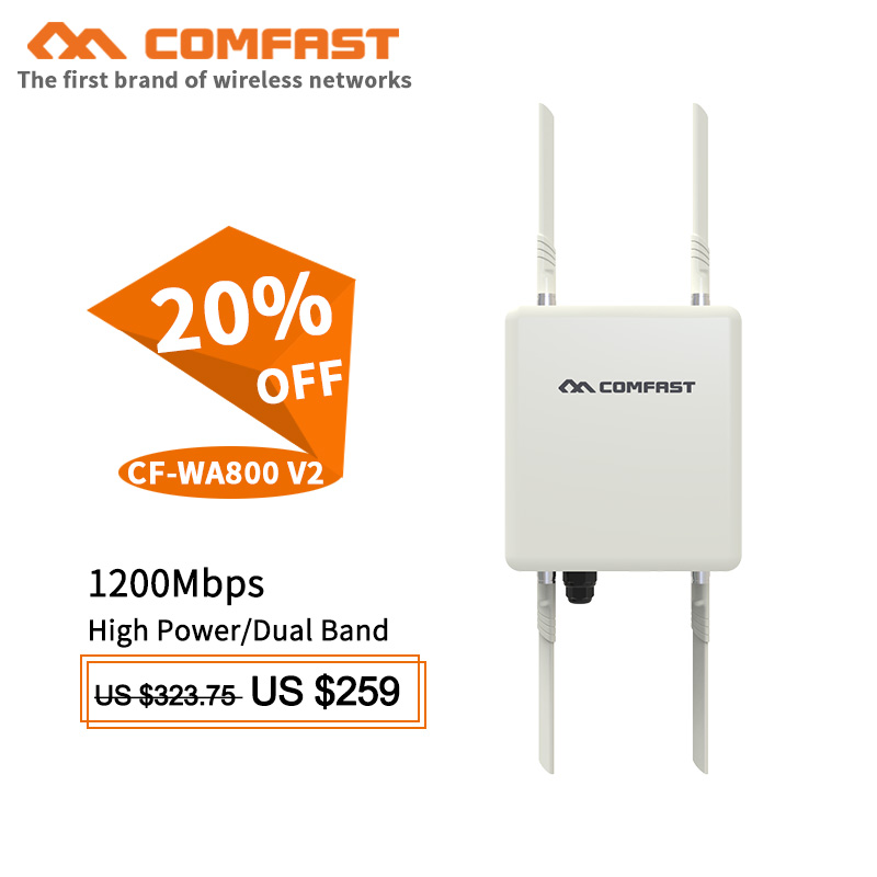 1200Mbps Dual Band 2.4G&5.8G ac Outdoor AP CPE Router WiFi Signal Hotspot Amplifier base station Long Range Wireless PoE routers