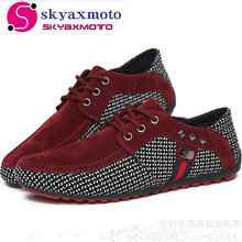2017 New arrival Men Shoes Mens Spring Autumn Casual Breathable Flats Male Fashion Lightweight Suede Shoes