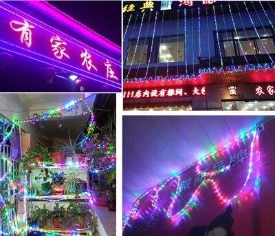 eu plug led light strip outdoor neon lights decoration pvc round 2 wire square garden waterproof source olympus digital camera christmas - Neon Outdoor Christmas Decorations