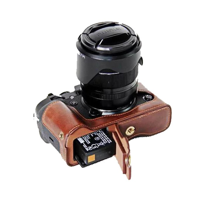New Pu Leather Camera <font><b>Case</b></font> Half Body For <font><b>FujiFilm</b></font> XT2 XT3 FUJI <font><b>X</b></font>-T2 <font><b>X</b></font>-<font><b>T3</b></font> Camera bottom cover image