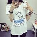 Unicornio unicornio, verano 2016 anime inconformista camiseta femme mujeres camisetas de algodón de kawaii ropa vogue unicornio estilo coreano 12