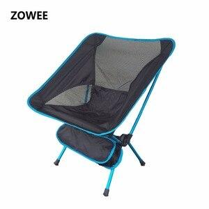 Image 1 - Składane na zewnątrz plaża połowów krzesło przenośne, Super lekkie oddychające oparcia piknik na plaży krzesło grill stołek kempingowy