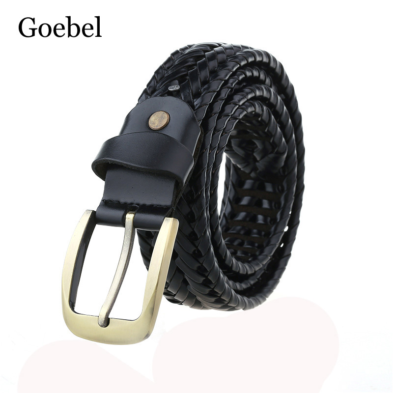 Goebel Fashion Style Leather Belt Men Pin Buckle Mens Belts Luxury Brand Fashion Brand Designer Belts Man High Quality
