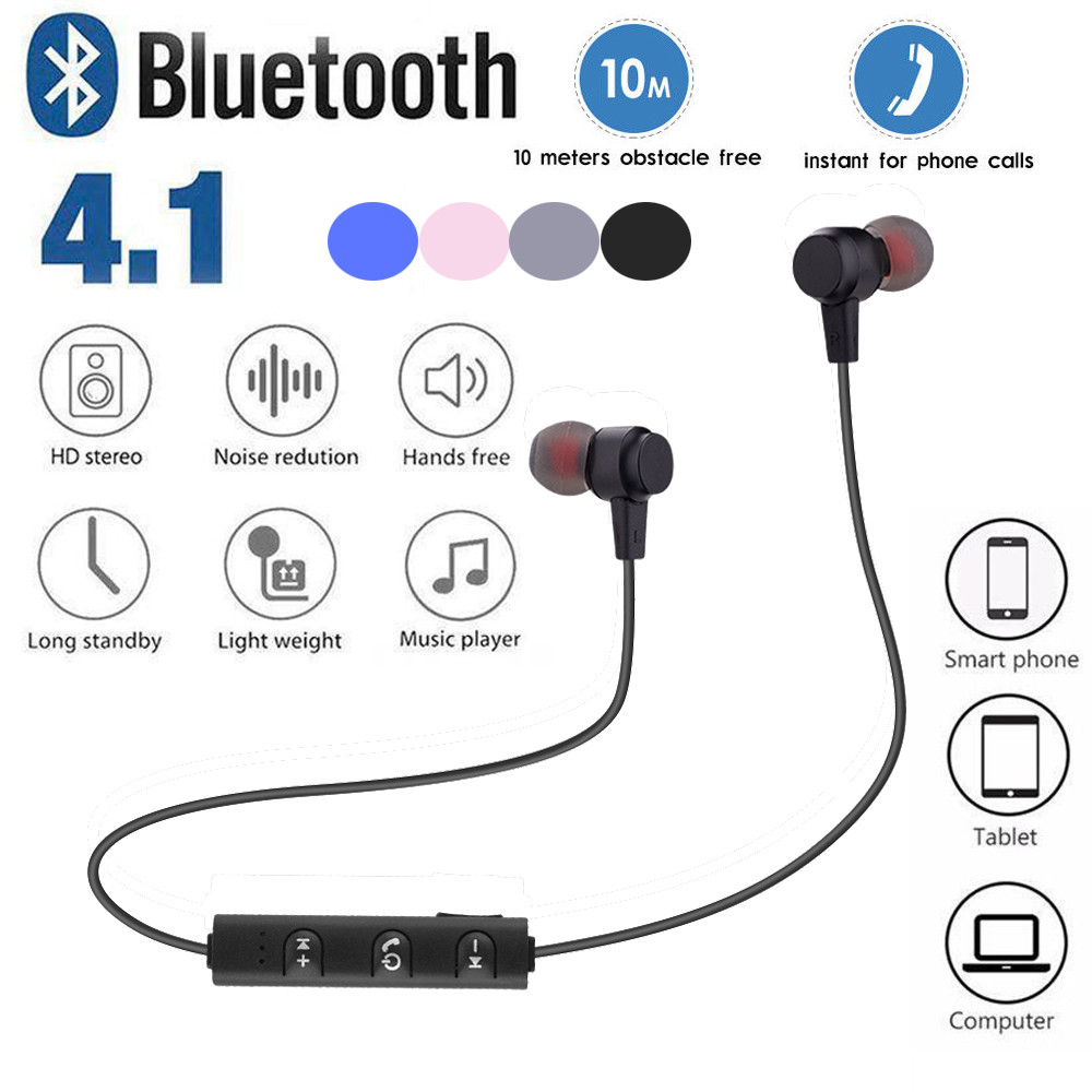 Magnetic Bluetooth Earphone V4.2 Stereo Sports Waterproof Earbuds Wireless in-ear Headset with Mic  foriPhone android Z522