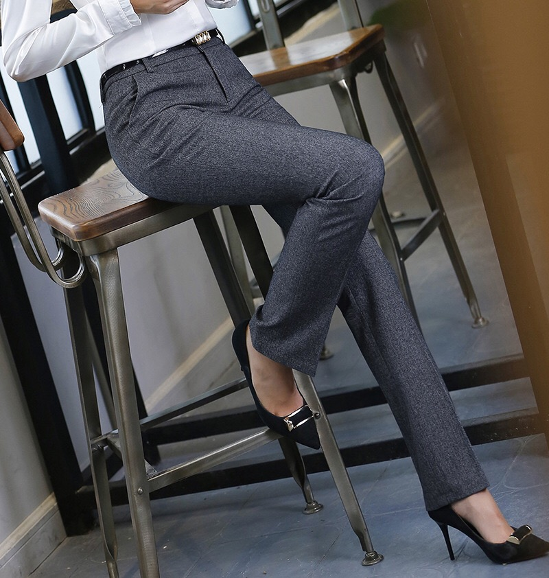 HTB1SeYalHZnBKNjSZFhq6A.oXXaZ - Stylish Women Work Pants Casual Korean OL Office Lady Straight Leg Formal Long Trousers Business Dress Pants Female 4XL XXL
