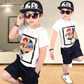 kids boys clothing summer sets character printed 2017 set kids clothes boys 5 6 7 8 9 10 11 12 years t-shirts tops shorts set