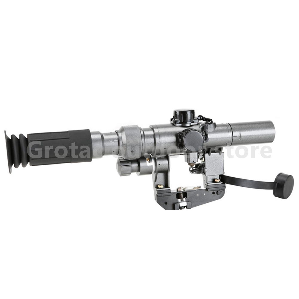 Dragunov 3 9x24 SVD First Focal Plane Sniper Rifle Scope Fit AK 47 red Illuminated Sight