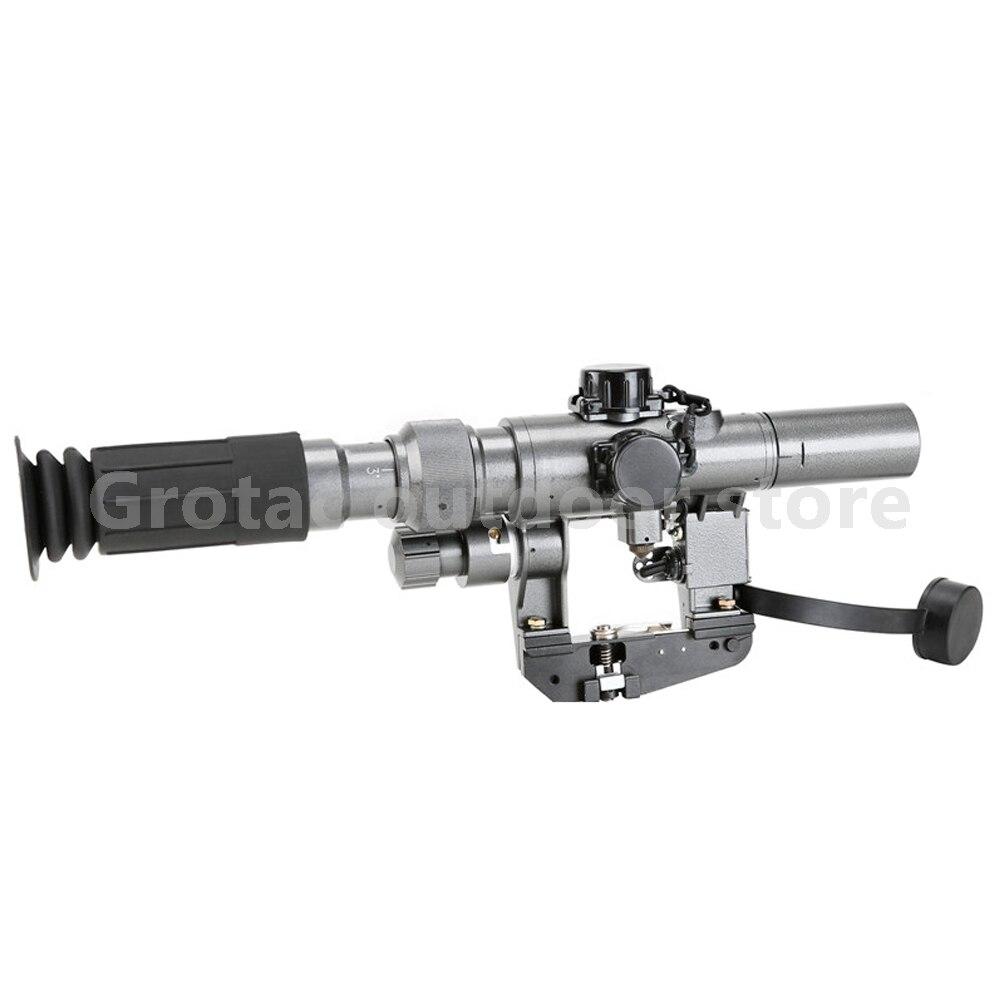 Dragunov 3-9x24 SVD première portée de fusil de Sniper plan Focal pour AK 47 portée de fusil de visée éclairée rouge