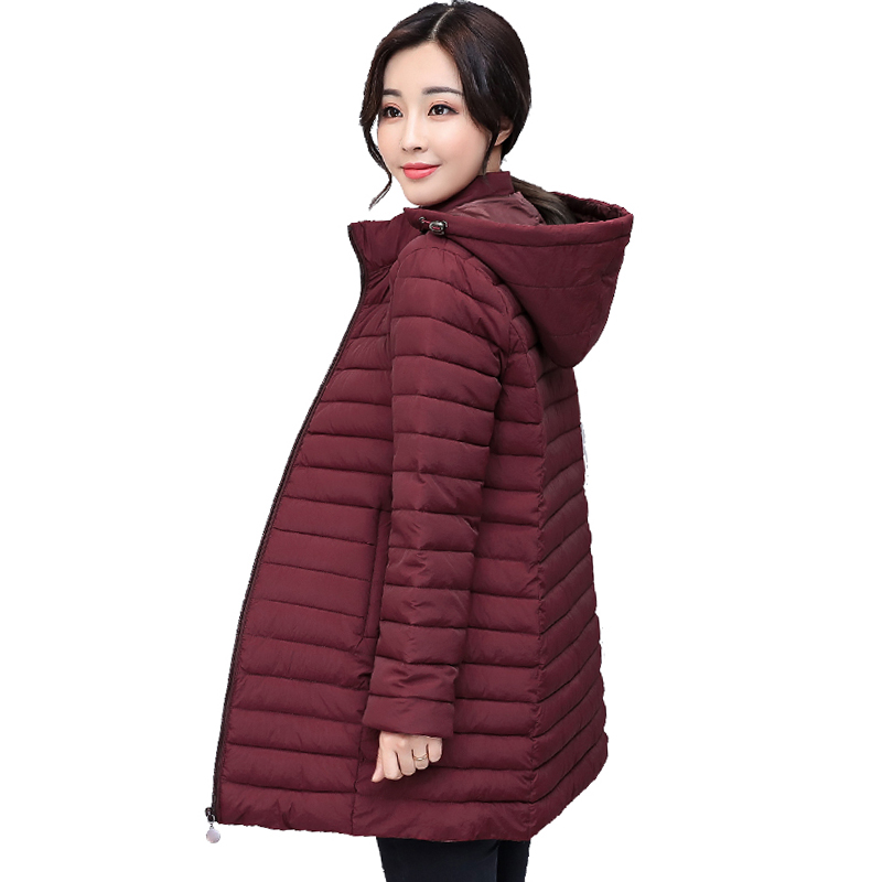 Casual 2019 Winter Jacket Women Hooded Cotton Padded Autumn Female Coat Outwear Slim Ladies   Parka   Abrigos Mujer Invierno
