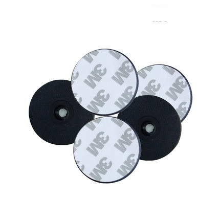 125KHZ TK4100 EM4100 Diameter 30mm Round Anti-water Rfid Tag Guard Patrol Points RFID Coin Card With 3M Adhensive Sticker Black