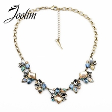 JOOLIM Jewelry Wholesale/2014 Vintage Flower Pendant Necklace Design Necklace charm Necklace Free Shipping