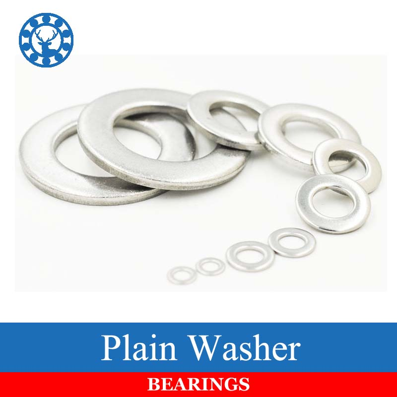 DIN125 ISO7089 M1.6 M2 M2.5 M3 M4 M5 M6 M8 M10 M12 M14 M16 M20 M24 M30 Stainless Steel Flat Machine Washer Plain Washer Gaskets m10 m12 m10 14 0 5 m10x14x0 5 m12 16 0 5 m12x16x0 5 id od thickness 2 304 stainless steel ss din125 washers plain plat washer
