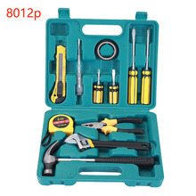 цены Hand Tool Set Wrench General Household Repair Hand Tool Kit tape Plastic Toolbox Storage Case Socket Wrench Screwdriver Knife