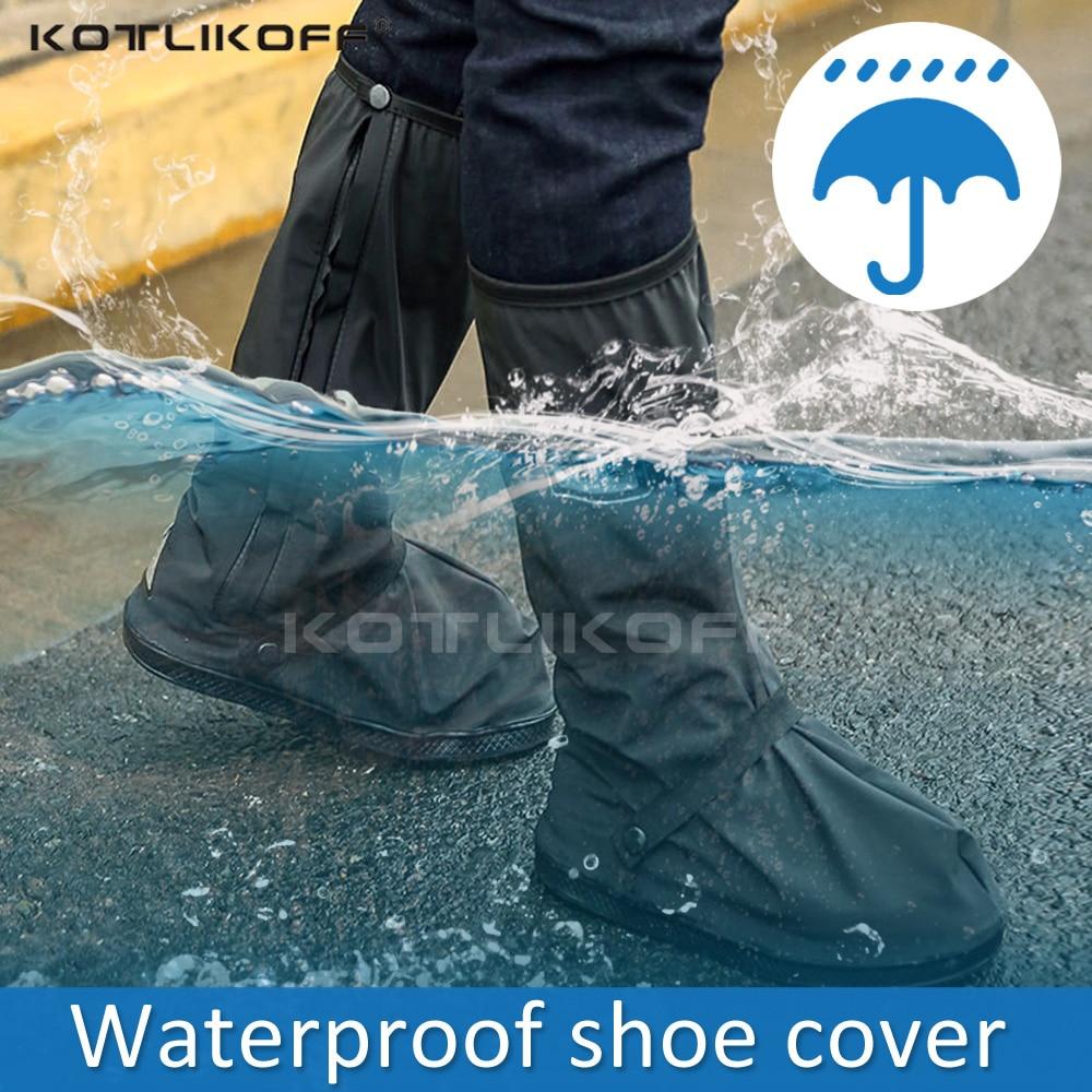 KOTLIKOFF Creative Waterproof Shoe Covers Waterproof Reusable Motorcycle Cycling Bike Boot Rain Shoes Covers Rainproof Thick
