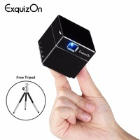 Exquizon S6 Mini DLP Projector WIFI wireless Pocket Portable Smart Projector 1080P Supported HD Home Theater Beamer 2500mAH