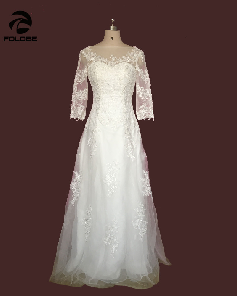 Vestido de noiva stock us size 4 18 elegant white ivory for Us size wedding dresses