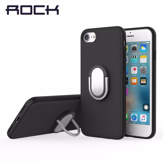 promo code 789af 23ba7 US $5.53 |ROCK Finger Ring Holder Case For iPhone 7 8 7 Plus 8Plus Holder  Stand Case for iPhone7 8 Back Cover Ring Stand-in Fitted Cases from ...