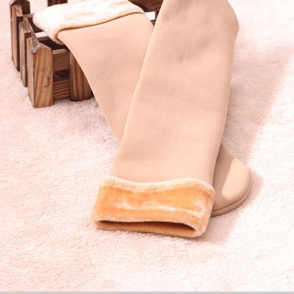 Invierno Wamer mujeres Thicken lana térmica Cachemira nieve calcetines sin costura terciopelo botas piso dormir calcetines para damas # L5