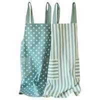 Корейская мода хлопок домашняя кухня Талия Женщины ногтей чай магазин Униформа платья фартук