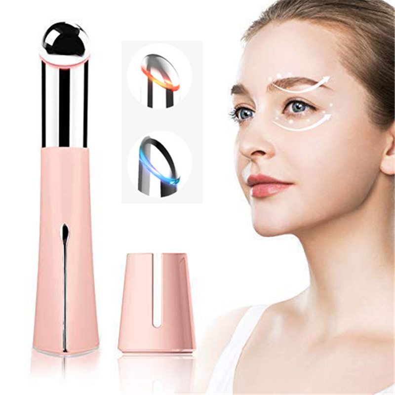 Hot and Cold Eye Massager Eye Wrinkle Remover Pen Reducing Eyes Puffiness Dark Circle High Frequency Heating Vibrating MassagerHot and Cold Eye Massager Eye Wrinkle Remover Pen Reducing Eyes Puffiness Dark Circle High Frequency Heating Vibrating Massager