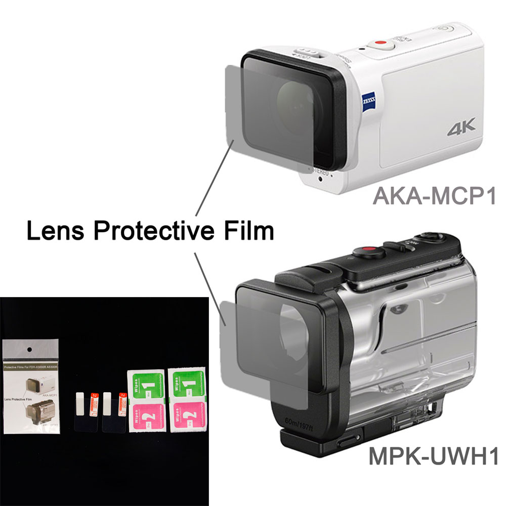 Clear Lens Protector Film For AKA MCP1 MPK UWH1 For sony action cam HDR AS300r AS50v
