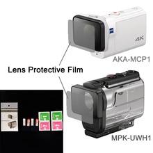 Прозрачные линзы протектор Плёнки для AKA-MCP1 MPK-UWH1 для Sony Action Cam HDR-AS300r AS50v FDR-X3000R Аксессуары
