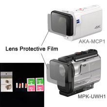 Clear Lens Protector Film For AKA-MCP1 MPK-UWH1 For sony action cam HDR-AS300r AS50v FDR-X3000R Accessories