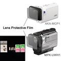 Lente transparente protector de la película para aka-mcp1 mpk-uwh1 para sony cámara de acción hdr-as300r as50v fdr-x3000r accesorios