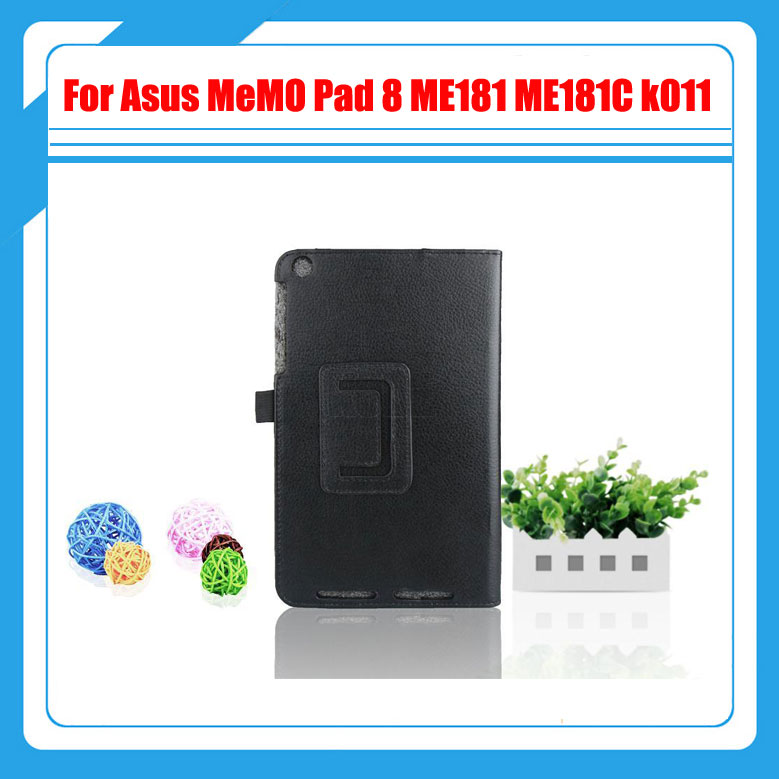 все цены на  10 colors High quality ! Pu Leather Cover Case For Asus MeMO Pad 8 ME181 ME181C k011+ Stylus  онлайн
