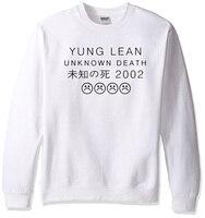 Yung LEAN UNKNOW DEATH Fashion Men S Sportswear 2017 Spring Winter Hoodies Men Sweatshirt Off White