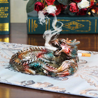 Creative Ashtray European Ornaments Home Decorations Living Room Office Furnishings Personalized Gifts Gift Dragon
