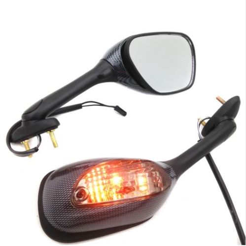 Motorcycle Smoke Lens Integrated Turn Signal Mirrors for Suzuki GSXR 600 750 GSXR 750 2006-2012 GSXR 1000 2005-2010 Carbon motorcycle silver unfoldable rear brake pedal foot lever for 2006 2014 suzuki gsxr 600 750 2005 2015 suzuki gsxr 1000