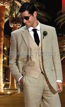 New Custom Made 2 Buttons Groom Tuxedos Notch Lapel Best Man Groomsmen Men Wedding Suits Bridegroom (Jacket+Pants+Vest+Tie)