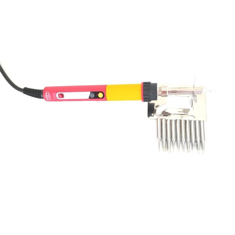 Tools : CXG E60WT E90WT E110WT Digital LCD Adjustable NC thermostat Electric soldering iron handle Welding repair  10pcs solder tip
