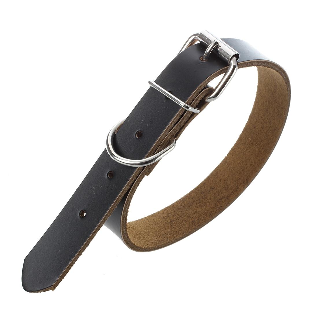 Hot Sale Adjustable Black Leather Collar for Dog - Size L