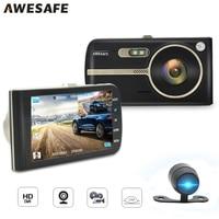 AWESAFE 4 IPS Car DVR Camera 1080P Video Recorder Novatek 24h Parking Monitor 170 Degree Wide