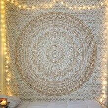 CAMMITEVER Grote Mandala Indian Tapijt Muur Opknoping Bohemien Strandlaken Polyester Dunne Deken Yoga Shawl Mat 210x150cm