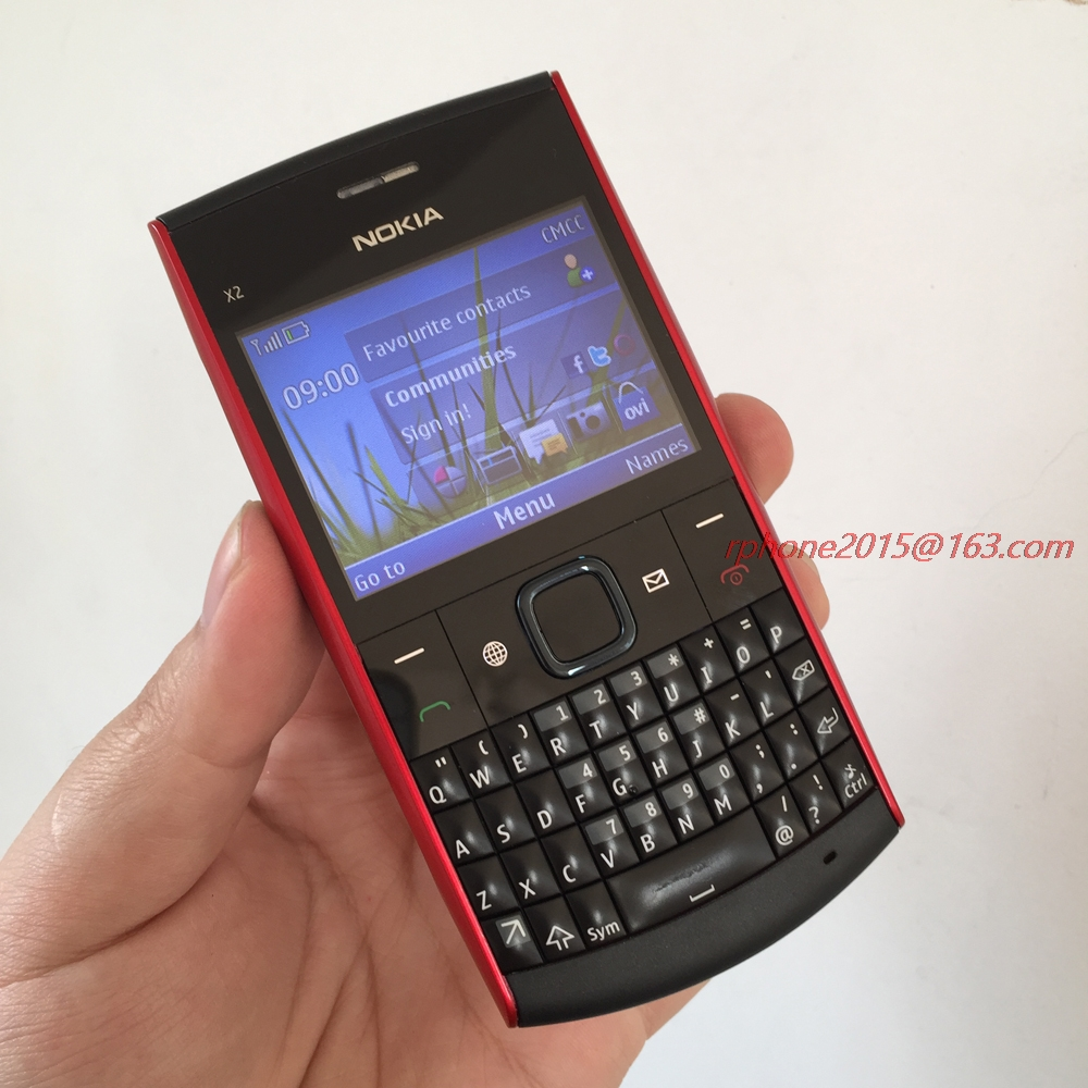 Unlocked Original Nokia X2-01 Mobile Phone Symbian OS Refurbished Cell phone Free shipping feature phone