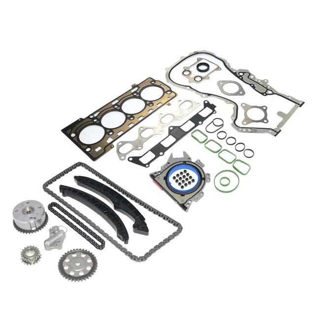 AP01 Engine Repair Kit Pistons STD + Timing Chain Kit + Head Gaskets For Audi A3 A1 VW EOS BEETLE SCIROCCO CC 1.4 TSI 3