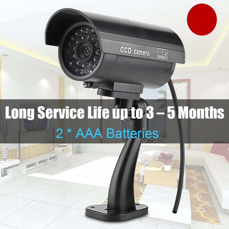 Surveillance Security Camera Bullet Dummy Fake False Camera Flashing LED Simulation Wireless CCTV Cameral For Indoor & Outdoor waterproof dummy cctv camera with flashing led for outdoor or indoor realistic looking fake camera for security