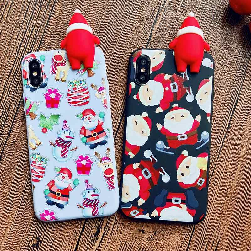 86c15620f73dfa Detail Feedback Questions about XS Max Merry Christmas Tree Santa Claus  Gift Happy New Year Phone Case Cartoon Silicone for iPhone 8 7 plus 6 5S SE  6S X XR ...