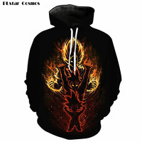 PLstar Cosmos Anime Amazing Super Saiyan DBZ Hoodie Men/Women Hoodies with Hat 3D Print Autumn Hooded Hoodie Sweatshirts Tops