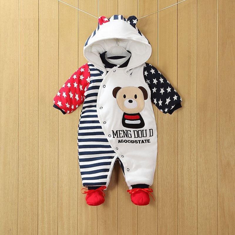 2020 novo bebe macacao inverno grosso quente bebe menino roupas de manga longa com capuz macacao