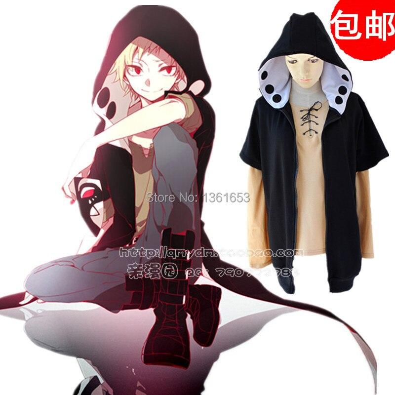 Kagerou project cosplay hoodies mekakucity actors heat haze project kano shuuya Cosplay jacket costume set hoodie + t shirt