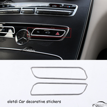 Car Styling Interial Decorative Mountings Aluminum Alloy Stickers GLC Central Console Trim decal for Mercedes Benz