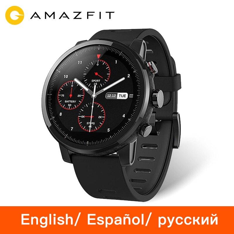 Huami Amazfit Stratos Tempo 2 Smartwatch Smart Uhr Bluetooth GPS Keramik Rande Herz Monitor 11 Art Sport Modus 50 mt wasserdicht