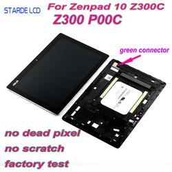 AAA LCD para Asus ZenPad 10 Z300 Z300C Z300CL P00C P023 verde conectores Z300CNL P01T pantalla LCD Digitalizador de pantalla táctil marco